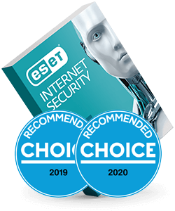 ESET Internet Security Choice awards box
