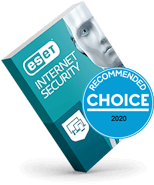 ESET Internet Security Choice award 2020 box