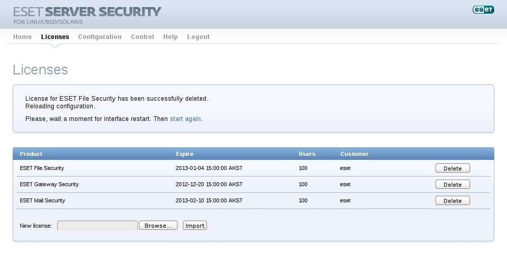ESET Server Security for Linux/BSD/Solaris - Licences