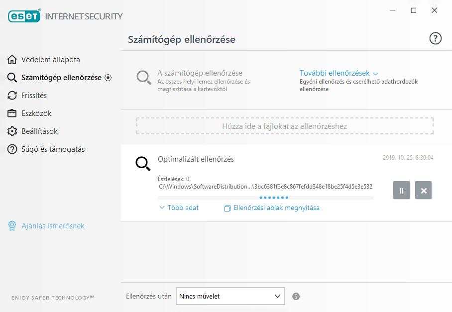 ESET Internet Security - Számítógép ellenőrzése