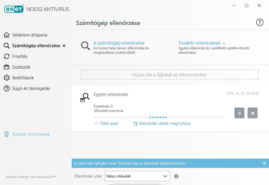 ESET NOD32 Antivirus - Számítógép ellenőrzése