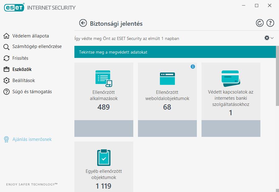 ESET Internet Security - Biztonsági jelentés