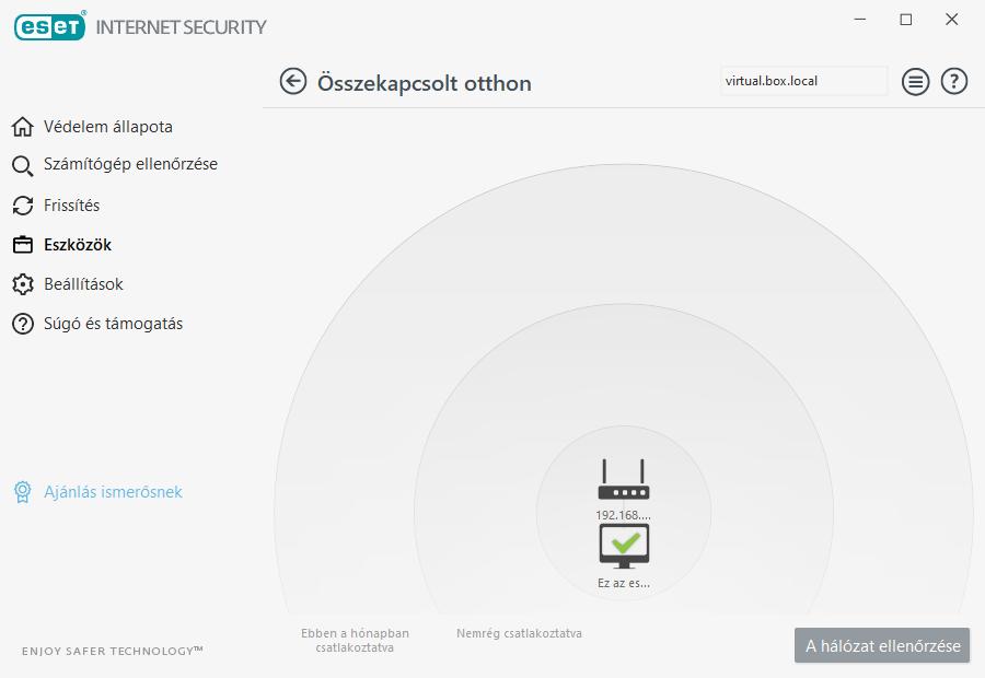 ESET Internet Security - Összekapcsolt otthon felügyelete