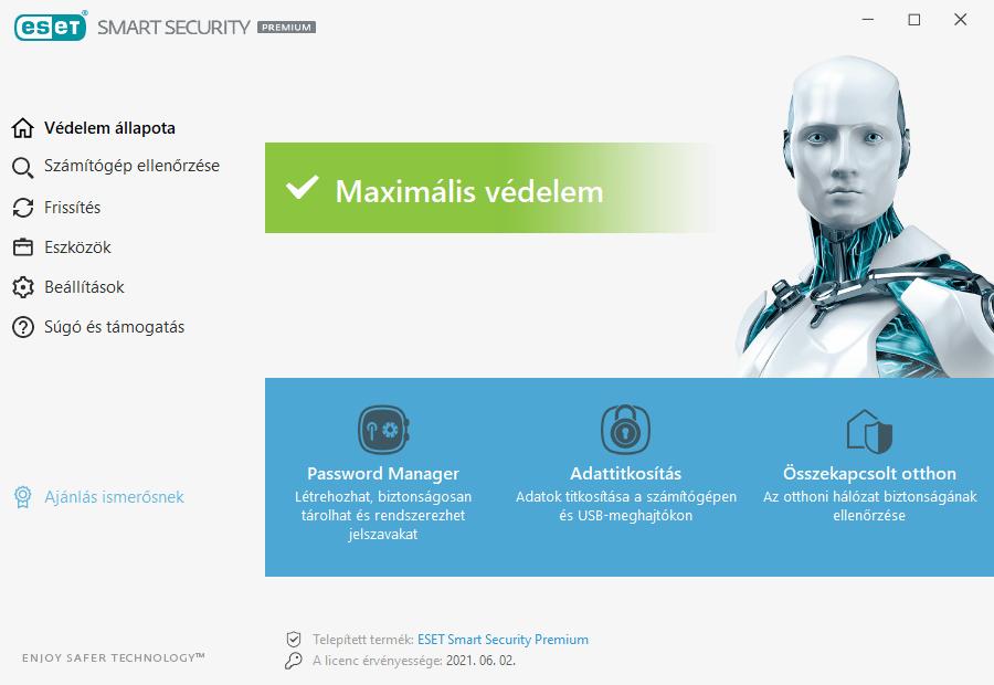 ESET Smart Security Premium főmenü
