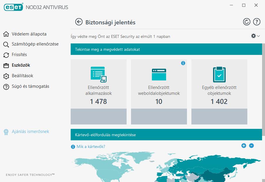 ESET NOD32 Antivirus - Biztonsági jelentés a vírusfertőzések aktuális, világszintű állapotáról