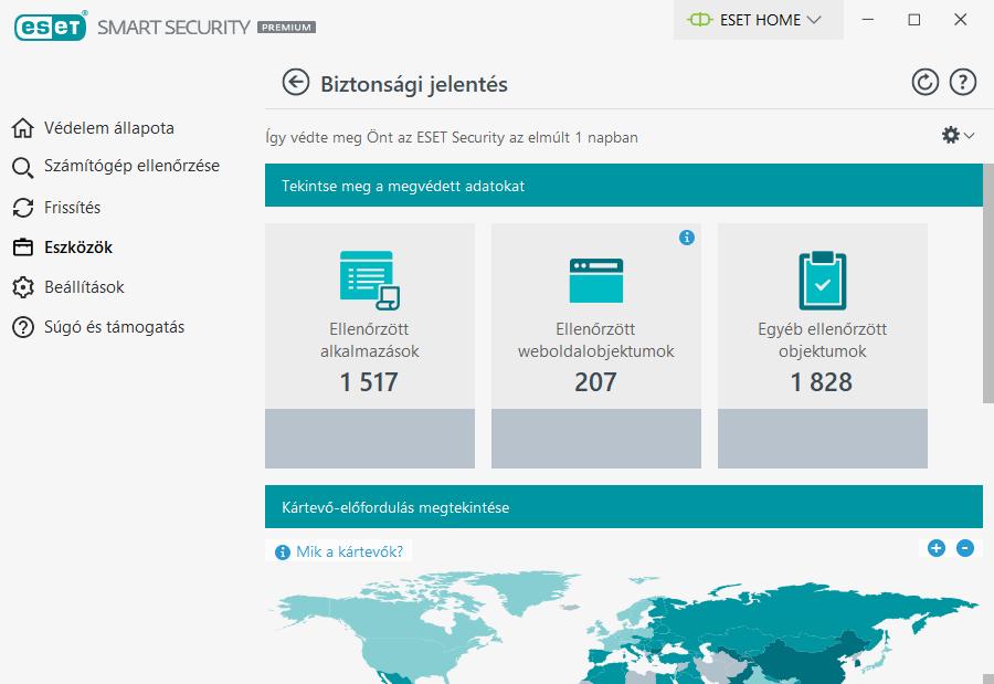 ESET Smart Security Premium - Biztonsági jelentés