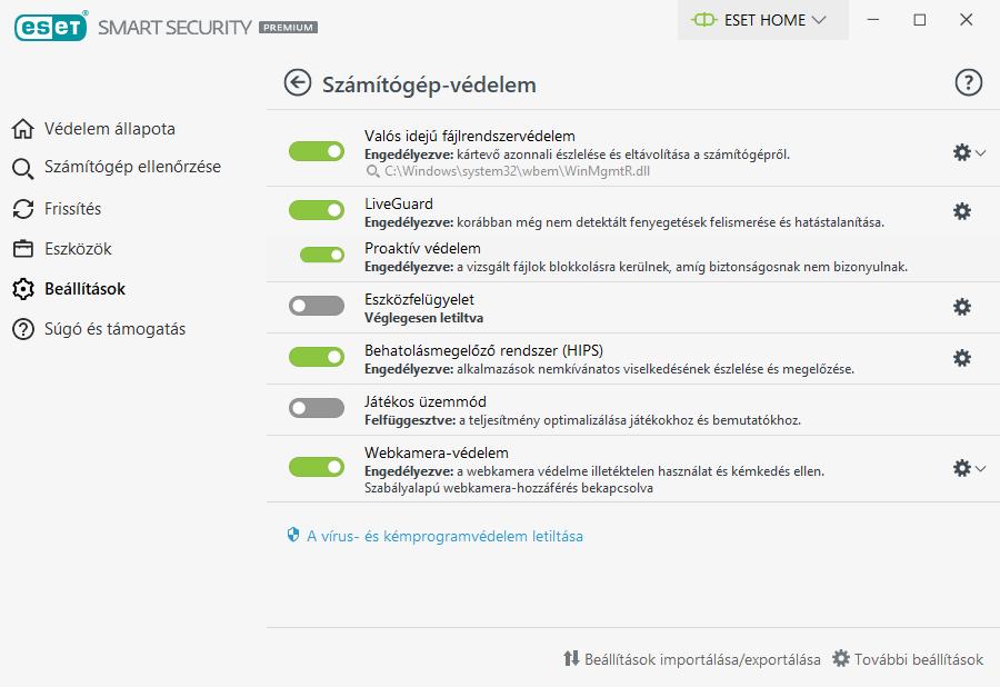 ESET Smart Security Premium - Számítógép védelem