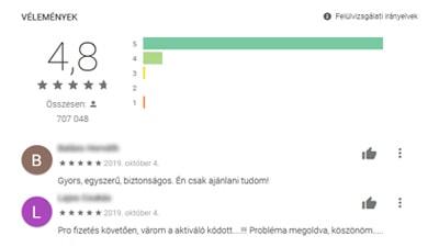 Alkalmazás értékelése Google Play áruházban