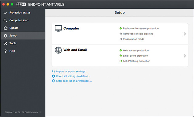 ESET Endpoint Antivirus for Mac - Setup