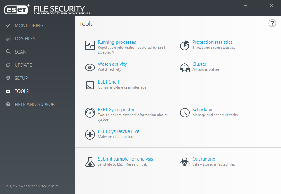 ESET File Security for Microsoft Windows Server - Tools