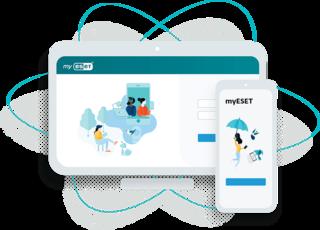portál myESET umožňuje snadno správu licencí