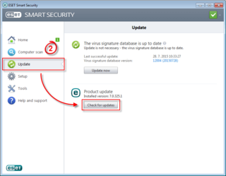 Windows 10 compatibility with ESET, Update image